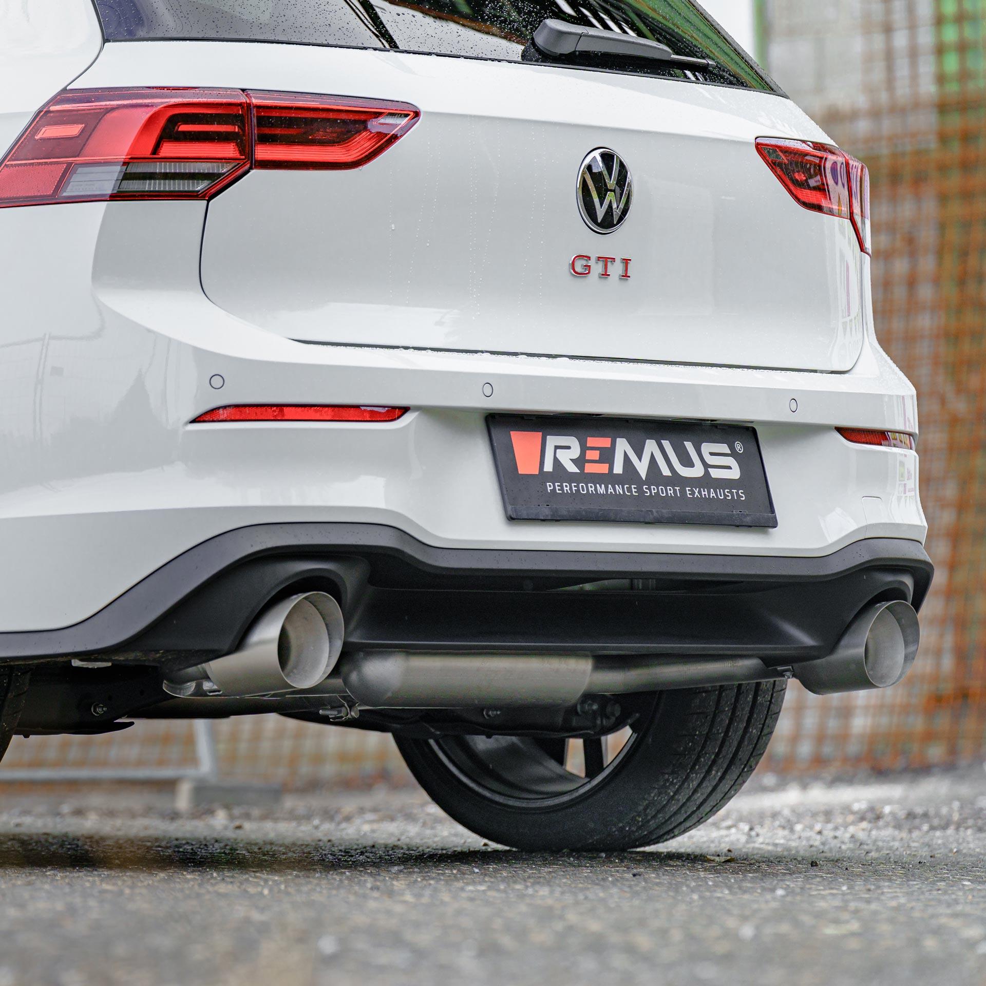 VW Golf 8 GTI REMUS sport exhaust system